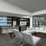 courtyard house plan-kitchen