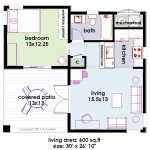 studio600 floorplan