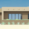 small contemporary adobe house plan | 61custom
