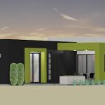 modern houseplan - back