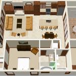spanish contemporary floorplan