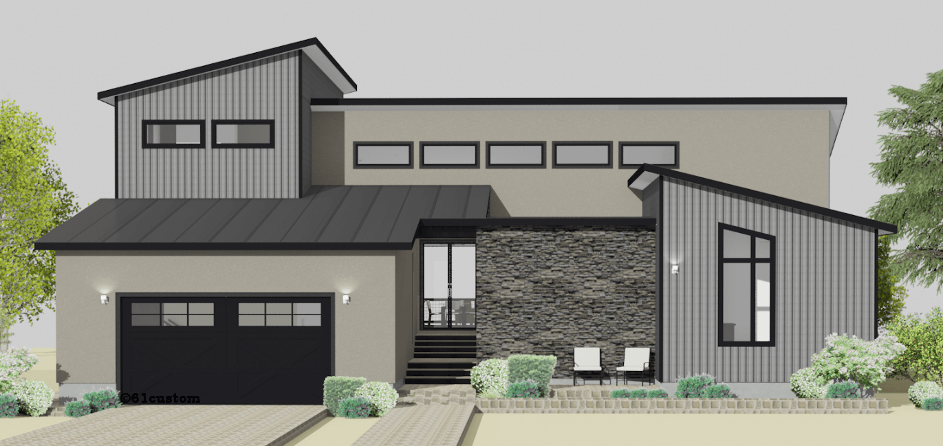Semi Custom Home Plans 61custom Modern Home Plans