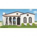 spanish contemporary home plan