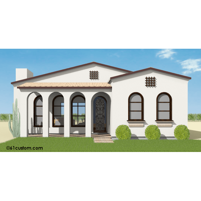 Luxury Home Modern House Design 3020: Small Spanish Contemporary House Plan